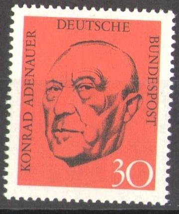 567 Konrad Adenauer Deutsche Bundespost Briefmarke Solar Pool Ice
