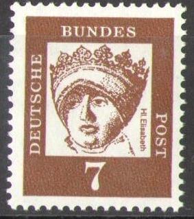 348x Elisabeth 7 Pf Deutsche Bundespost Solar Pool Ice Peter Hakim