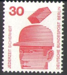 406 Jederzeit Sicherheit 30 Pf Deutsche Bundespost Berlin Solar