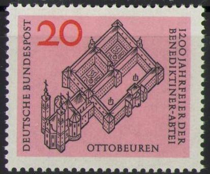428 Benediktinerabtei Deutsche Bundespost Briefmarke Solar Pool