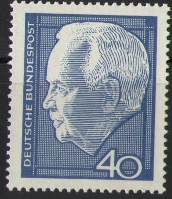 430 Heinrich Luebke 40 Pf Deutsche Bundespost Briefmarke Solar