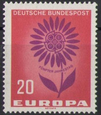 446 Europa Blume 20 Pf Deutsche Bundespost Solar Pool Ice Peter