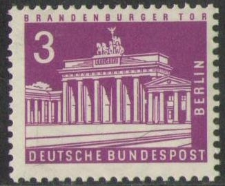 231 Brandenburger Tor 3 Pf Deutsche Bundespost Berlin Solar Pool