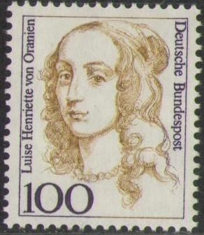 1756 Luise Henriette Von Oranien 100 Pf Deutsche Bundespost Solar