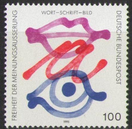 1789 Freiheit Der Meinungsäußerung 100 Pf Briefmarke Deutsche