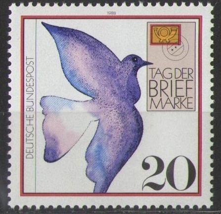 1388 Tag Der Briefmarke 20 Pf Deutsche Bundespost Solar Pool Ice