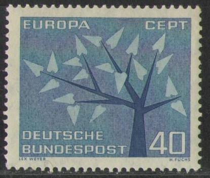 384 Europa Baum Cept 40 Pf Deutsche Bundespost Briefmarke