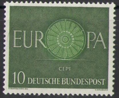 337 Europa Cept 10 Pf Deutsche Bundespost Solar Pool Ice Peter Hakim
