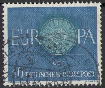 339 Europa Cept 40 Pf Deutsche Bundespost Solar Pool Ice Peter Hakim