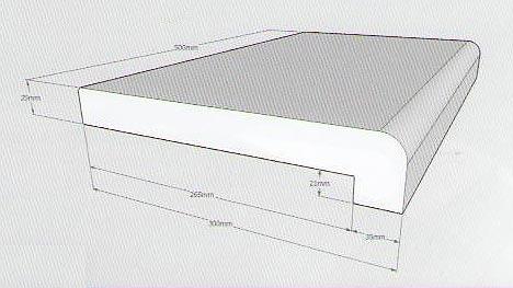 beckenrandsteine mit nase f r rundbecken d 300 bis 320 cm satura shop. Black Bedroom Furniture Sets. Home Design Ideas