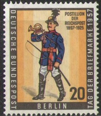 176 Tag Der Briefmarke 1957 Deutsche Bundespost Berlin Solar Pool