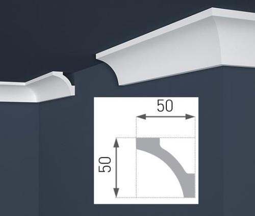 Deckenleiste hart e12 eckleiste 50 x 50 mm solar pool ice peter hakim - Ubergang wand decke acryl ...