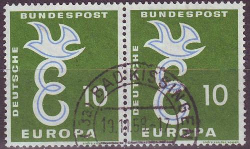 2x 295 Europa Taube 10 Pf Deutsche Bundespost Solar Pool Ice