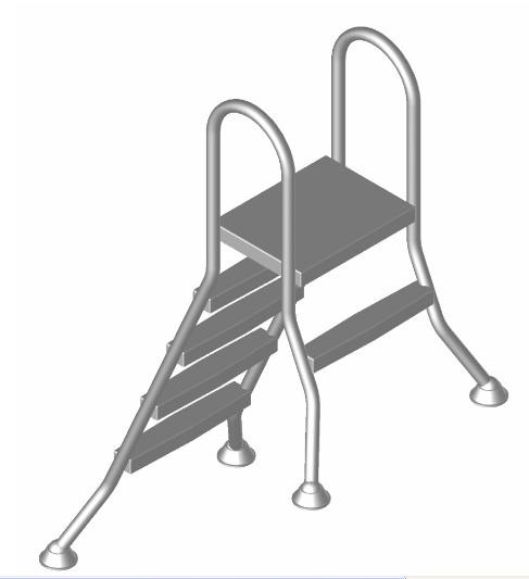 hochbecken leiter 4 1 stufig hochbeckenleiter mit plattform. Black Bedroom Furniture Sets. Home Design Ideas