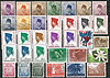 Briefmarken Lot 8 Indonesien Republik Indonesia stamps